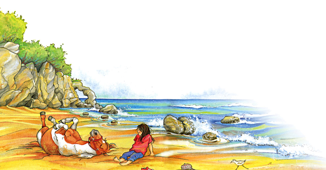 Illustration Melanie Brockamp Pferd Strand Meer